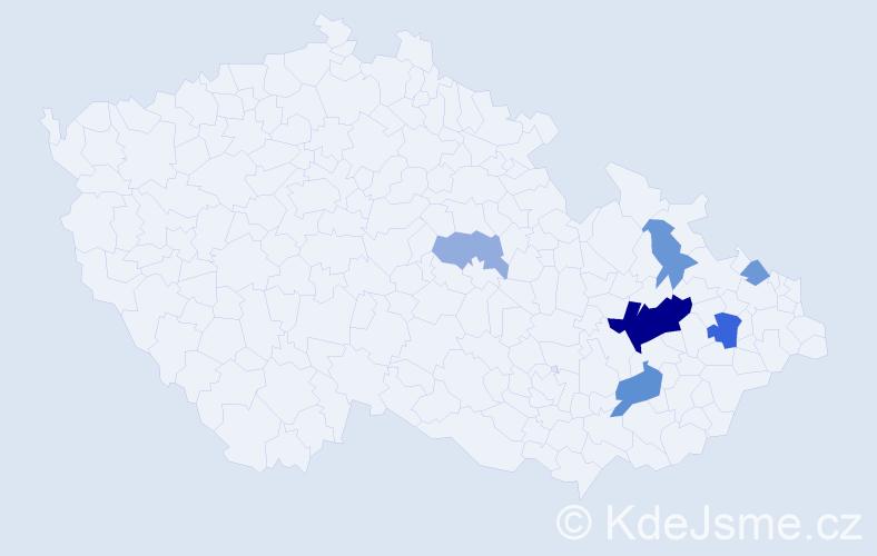 Příjmení: 'Krätschmer', počet výskytů 15 v celé ČR