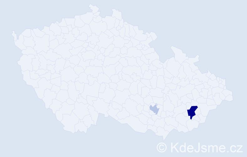 Příjmení: 'Haigh', počet výskytů 4 v celé ČR