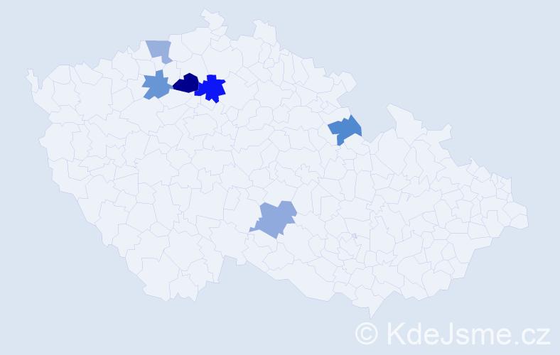 Příjmení: 'Laudinová', počet výskytů 8 v celé ČR