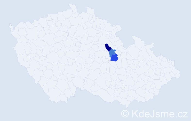 Příjmení: 'Baňanková', počet výskytů 3 v celé ČR
