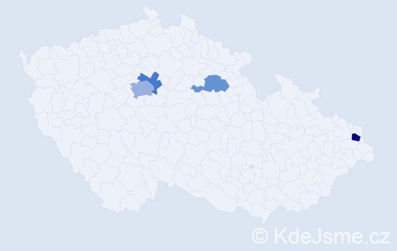 Příjmení: 'Herálecký', počet výskytů 7 v celé ČR