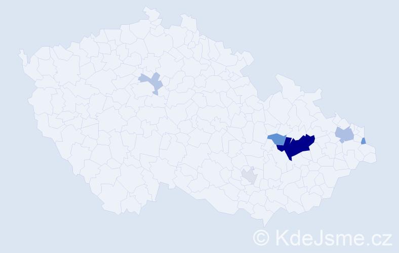 Příjmení: 'Boyko', počet výskytů 19 v celé ČR