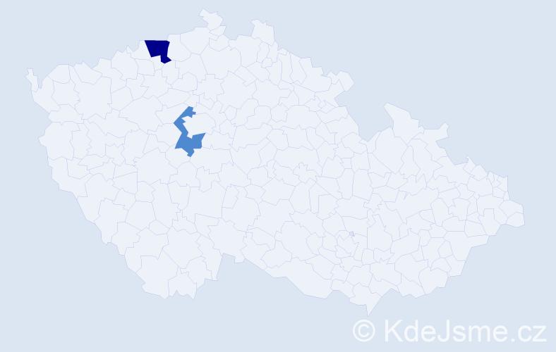 Příjmení: 'Efe', počet výskytů 3 v celé ČR