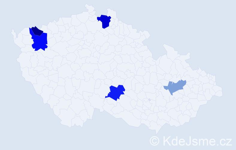 Příjmení: 'Baader', počet výskytů 9 v celé ČR