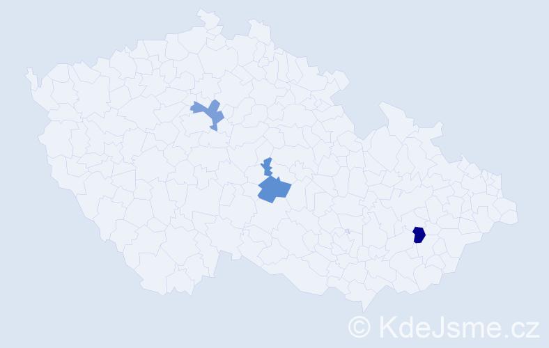 Příjmení: 'Harárová', počet výskytů 3 v celé ČR
