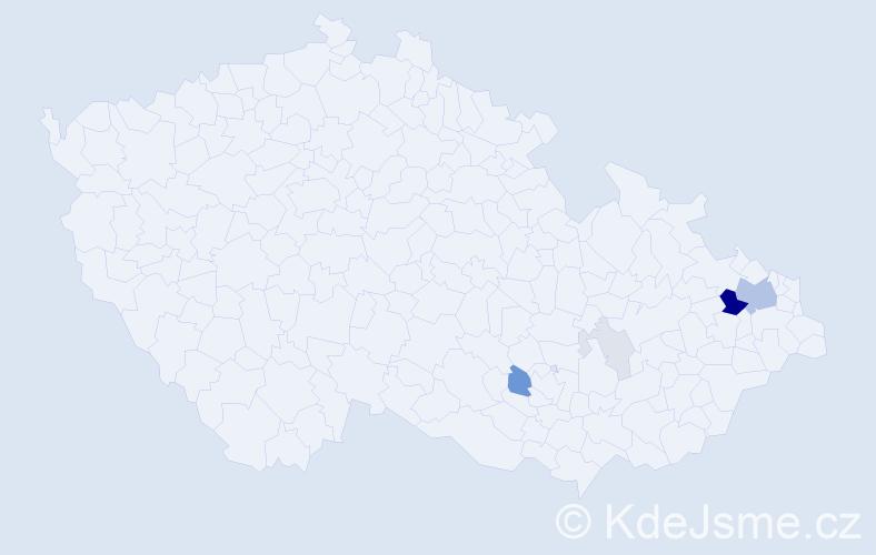 Příjmení: 'Blaschová', počet výskytů 22 v celé ČR