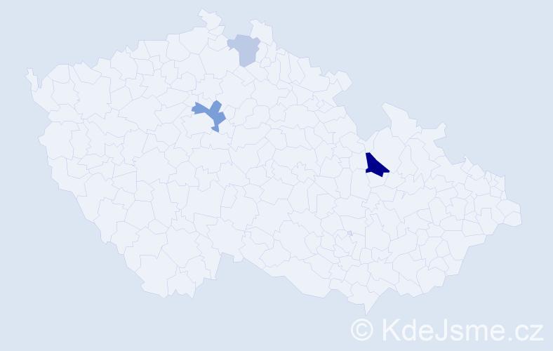 Příjmení: 'Čulej', počet výskytů 6 v celé ČR