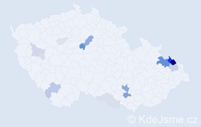 Příjmení: 'Fuss', počet výskytů 54 v celé ČR