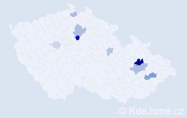 Příjmení: 'Laibnerová', počet výskytů 26 v celé ČR