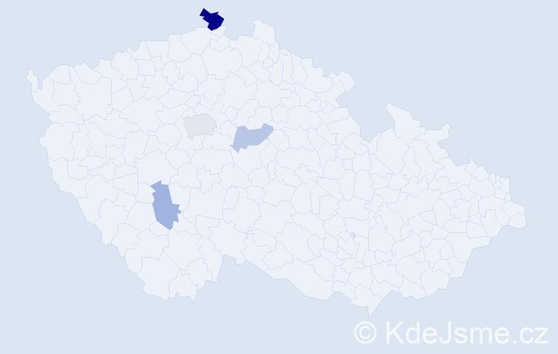 Příjmení: 'Horvatovič', počet výskytů 8 v celé ČR