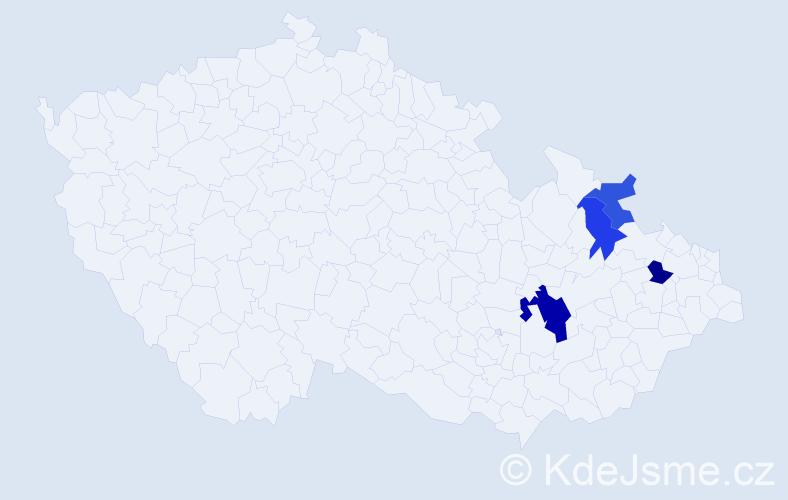 Příjmení: 'Gorba', počet výskytů 6 v celé ČR