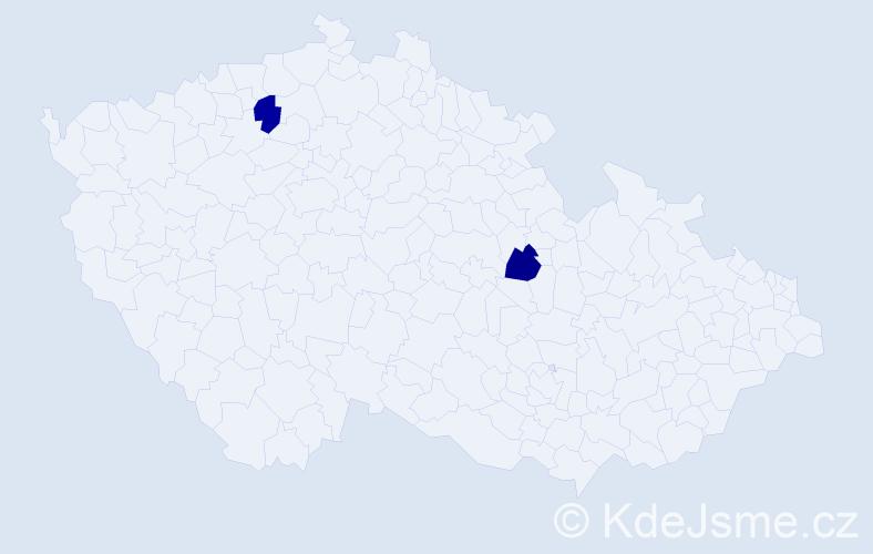 Příjmení: 'Caka', počet výskytů 2 v celé ČR
