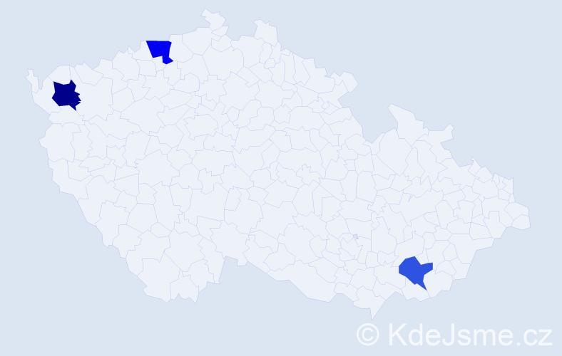 Příjmení: 'Ajdini', počet výskytů 8 v celé ČR