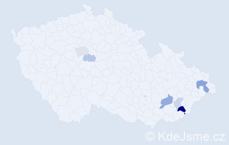 Příjmení: 'Adolt', počet výskytů 14 v celé ČR