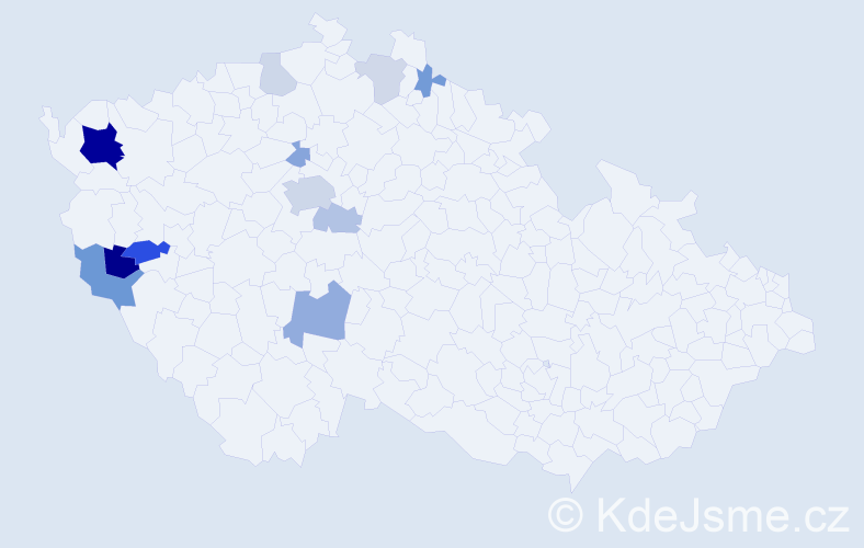 Příjmení: 'Echtnerová', počet výskytů 30 v celé ČR