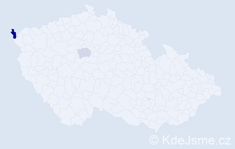 Příjmení: 'Kliman', počet výskytů 7 v celé ČR