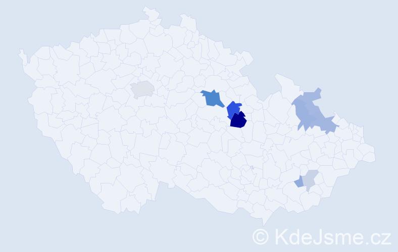 Příjmení: 'Demele', počet výskytů 24 v celé ČR