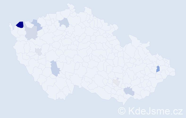 Příjmení: 'Igazová', počet výskytů 12 v celé ČR