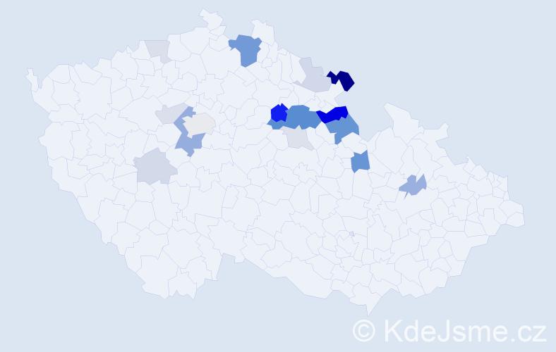 Příjmení: 'Látr', počet výskytů 48 v celé ČR