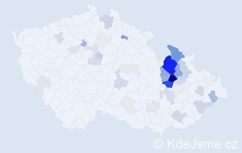 Příjmení: 'Kamler', počet výskytů 117 v celé ČR