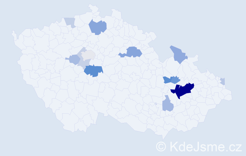 Příjmení: 'Bazger', počet výskytů 32 v celé ČR