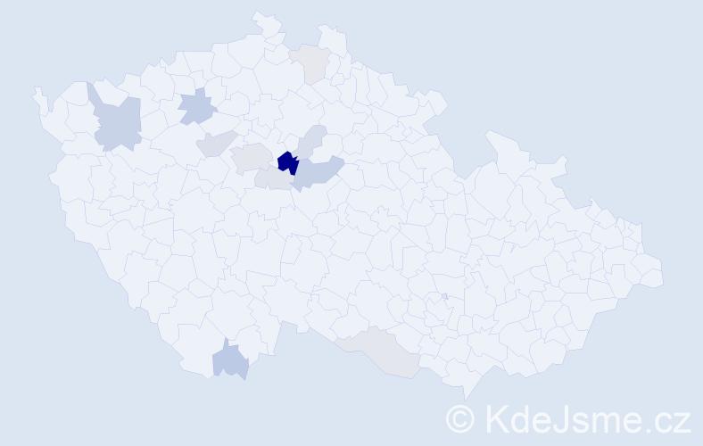 Příjmení: 'Chuchla', počet výskytů 32 v celé ČR