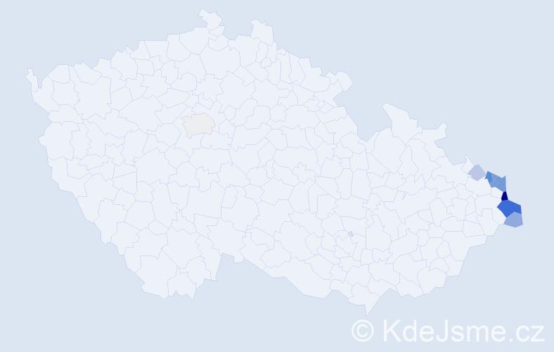 Příjmení: 'Górniaková', počet výskytů 27 v celé ČR