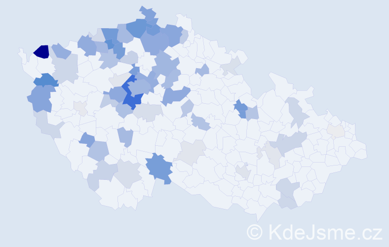 Příjmení: 'Arnoldová', počet výskytů 203 v celé ČR