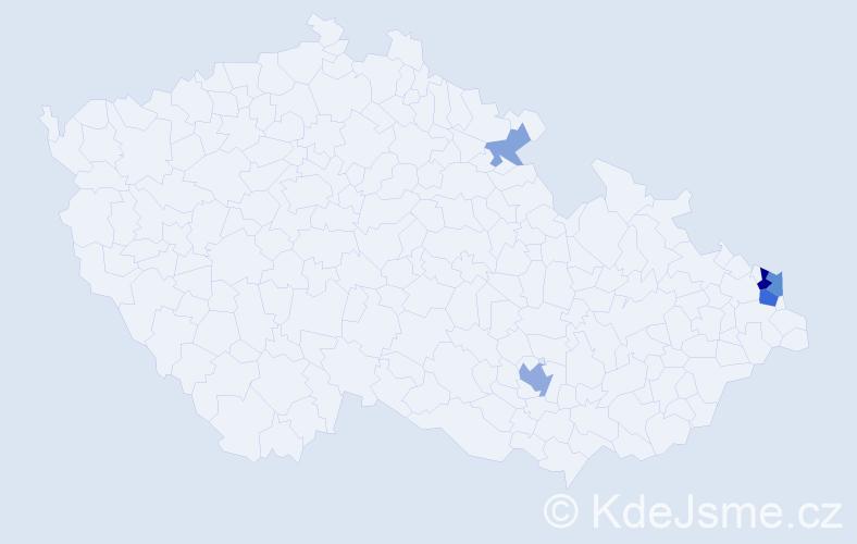 Příjmení: 'Čvirik', počet výskytů 12 v celé ČR