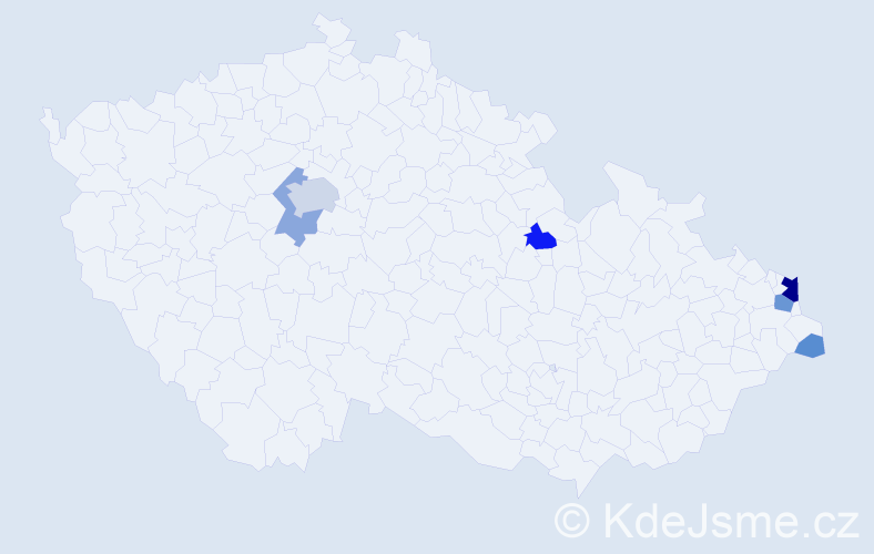 Příjmení: 'Gmuzdek', počet výskytů 20 v celé ČR