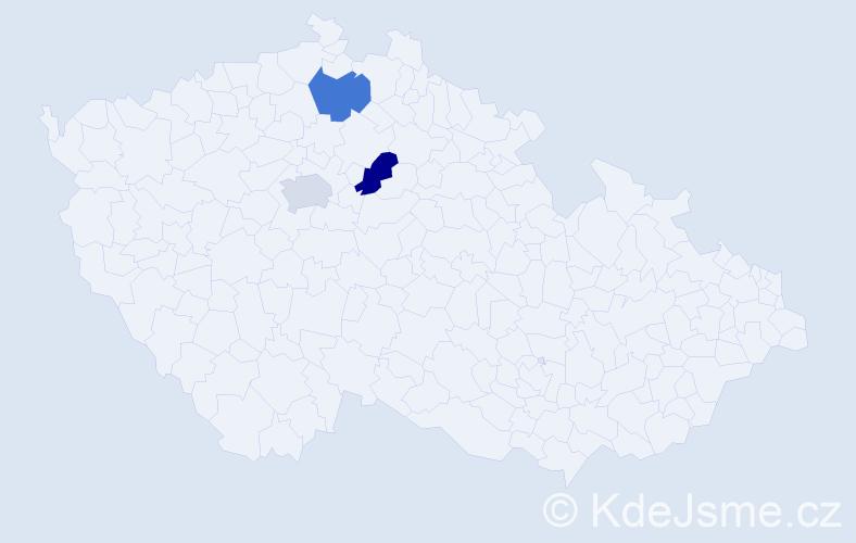 Příjmení: 'Légl', počet výskytů 3 v celé ČR