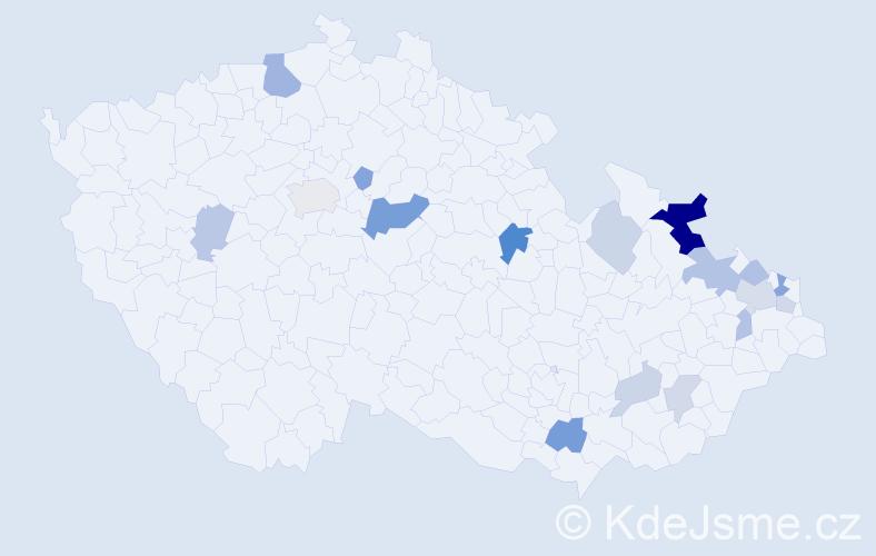 Příjmení: 'Grajciar', počet výskytů 36 v celé ČR