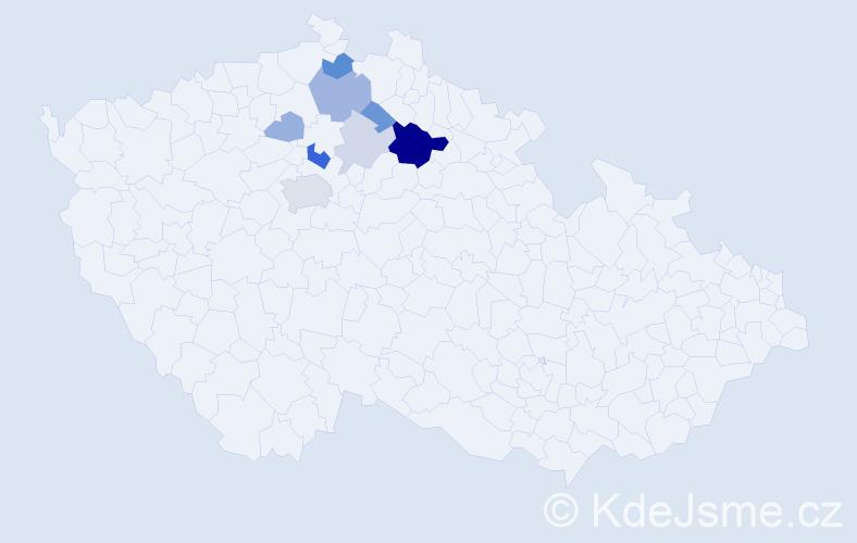 Příjmení: 'Barkman', počet výskytů 23 v celé ČR