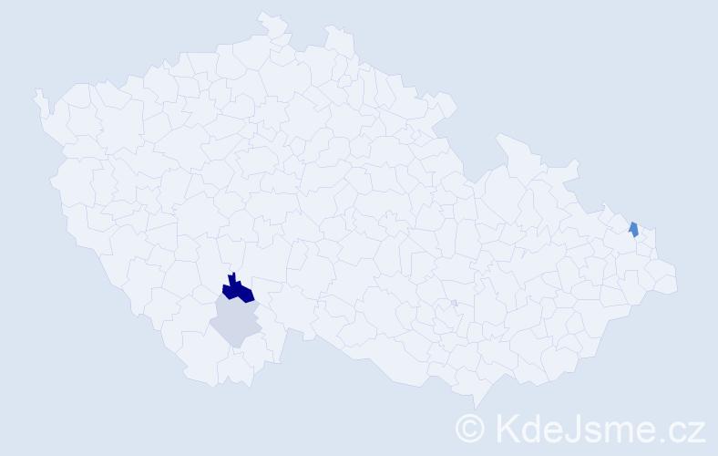 Příjmení: 'Barbuláková', počet výskytů 10 v celé ČR