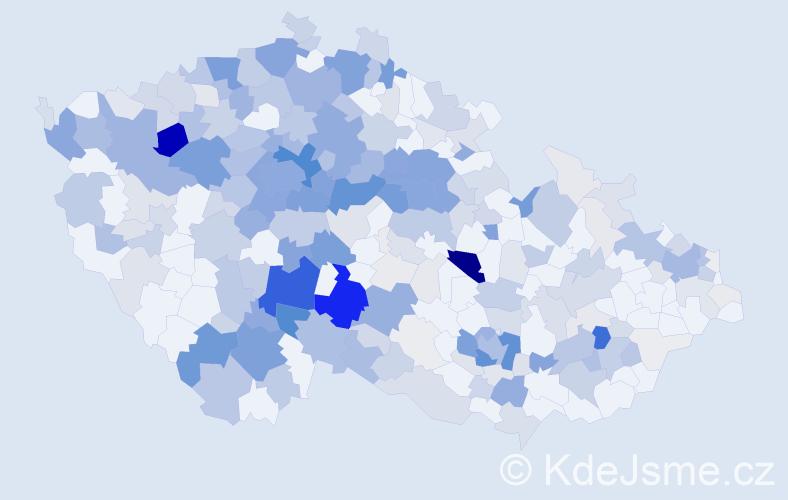 Příjmení: 'Kuklová', počet výskytů 1180 v celé ČR