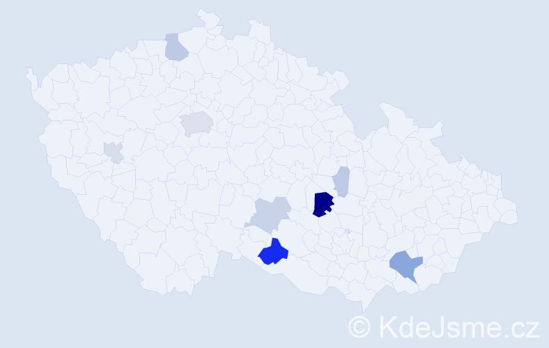 Příjmení: 'Christian', počet výskytů 32 v celé ČR