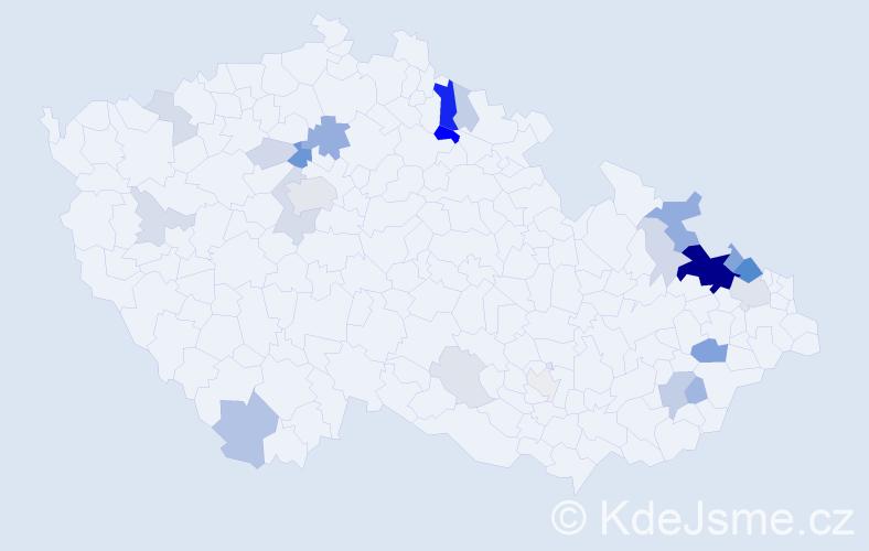 Příjmení: 'Herberová', počet výskytů 89 v celé ČR