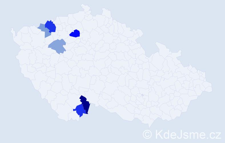 Příjmení: 'Dobuš', počet výskytů 11 v celé ČR