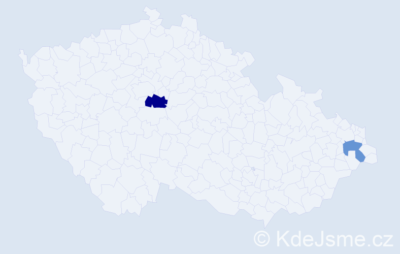 Příjmení: 'Čaplyginová', počet výskytů 8 v celé ČR