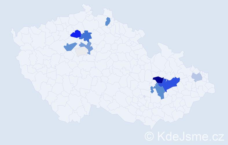 Příjmení: 'Brosingerová', počet výskytů 25 v celé ČR
