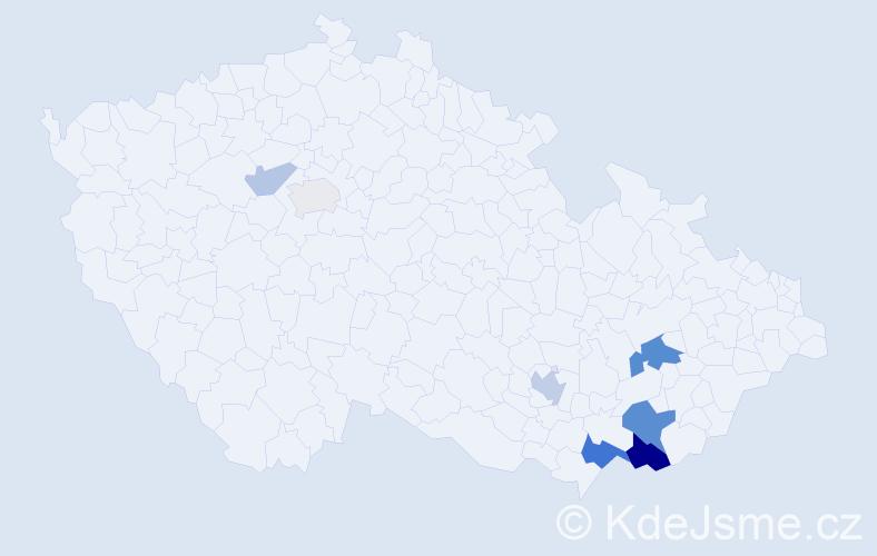 Příjmení: 'Holomčík', počet výskytů 33 v celé ČR