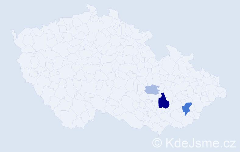 Příjmení: 'Hilnerová', počet výskytů 14 v celé ČR