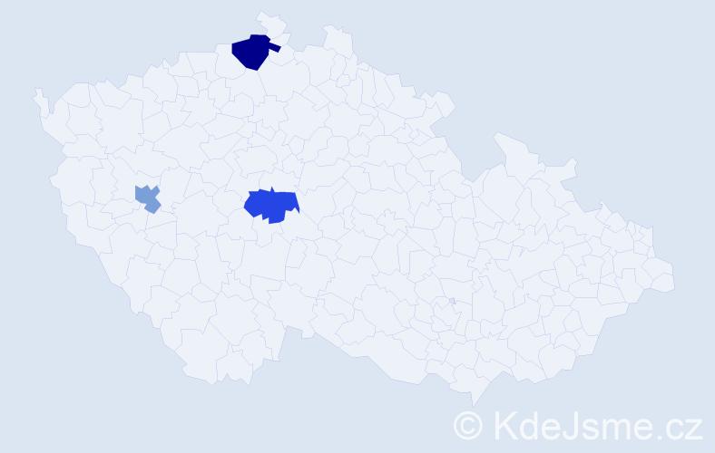 Příjmení: 'Ebrtová', počet výskytů 4 v celé ČR