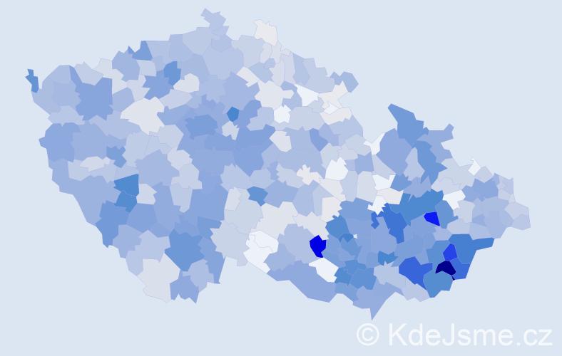Příjmení: 'Kovařík', počet výskytů 3573 v celé ČR