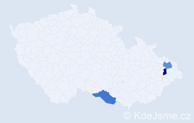 Příjmení: 'Köller', počet výskytů 4 v celé ČR