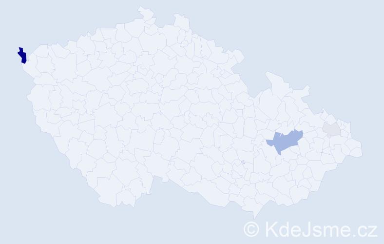 Příjmení: 'Hariňová', počet výskytů 7 v celé ČR