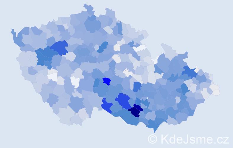 Příjmení: 'Čechová', počet výskytů 6780 v celé ČR