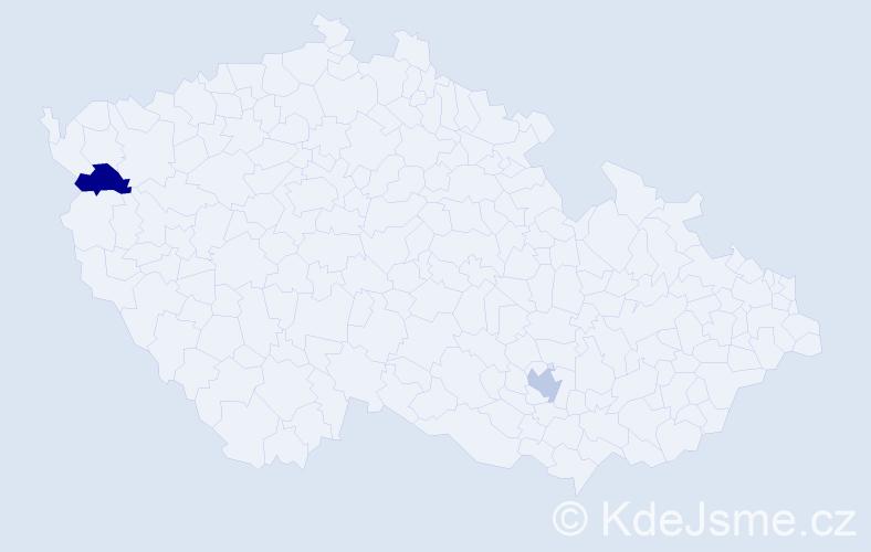 Příjmení: 'Ilyukhina', počet výskytů 2 v celé ČR
