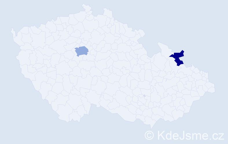 Příjmení: 'Jasko', počet výskytů 4 v celé ČR