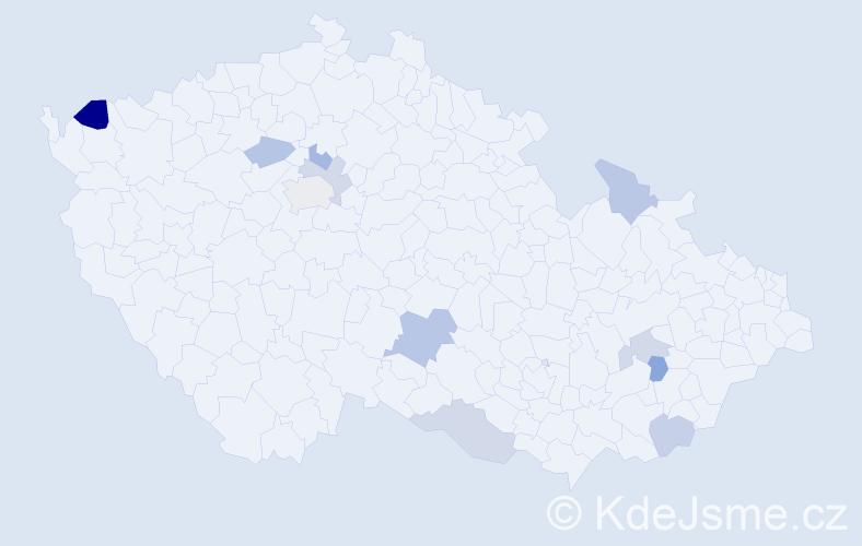 Příjmení: 'Georgián', počet výskytů 15 v celé ČR